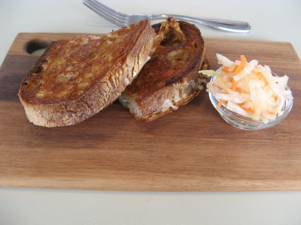 Grilled cheese, house made kraut